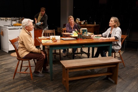 THE GABRIELS: Election Year in the Life of One Family Play Three: WOMEN OF A CERTAIN AGE Written and Directed by Richard Nelson  Featuring Meg Gibson, Lynn Hawley, Roberta Maxwell, Maryann Plunkett, Jay O. Sanders, Amy Warren  Scenic Designers Susan Hilfe