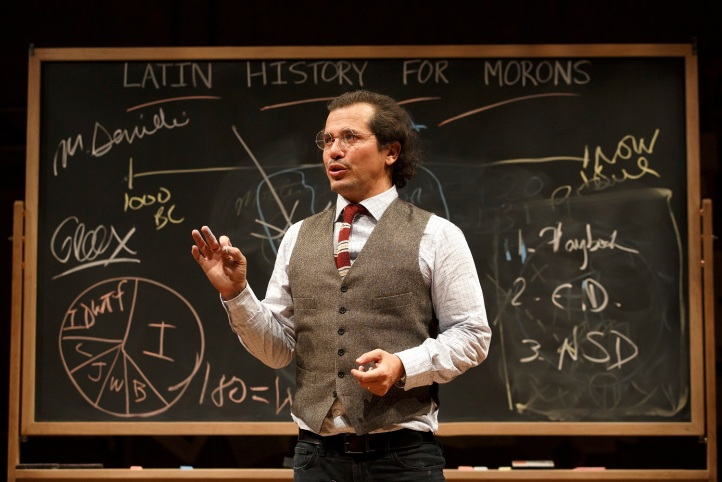 New York PremiereLATIN HISTORY FOR MORONS Written and performed by John Leguizamo Directed by Tony Taccone In a co-production with Berkeley Repertory Theatre  Scenic Design: Rachel Hauck Lighting Design: Alexander V. Nichols Original Music and Sound Des
