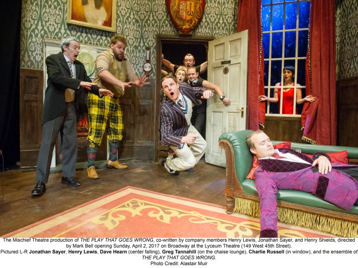 'The Play That Goes Wrong' Play performed at the Duchess Theatre. London, Britain