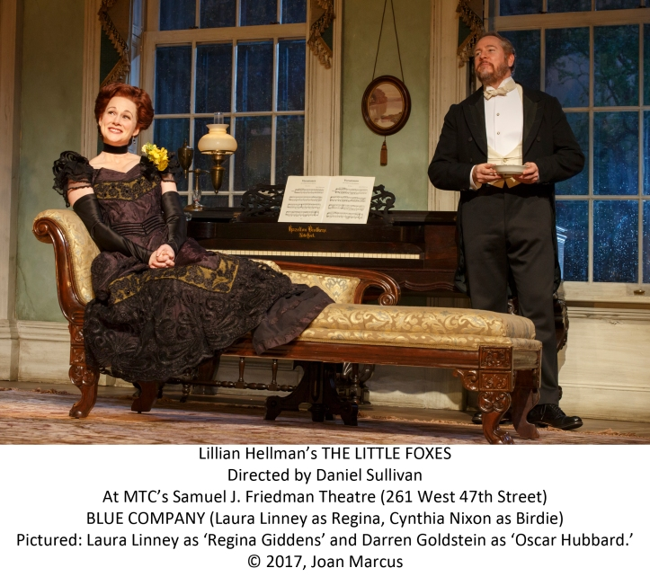 LILLIAN HELLMAN'S THE LITTLE FOXES Directed by Daniel Sullivan With Laura Linney, Cynthia Nixon Darren Goldstein, Michael McKean, Richard Thomas David Alford, Michael Benz, Francesca Carpanini, Caroline Stefanie Clay, Charles Turner