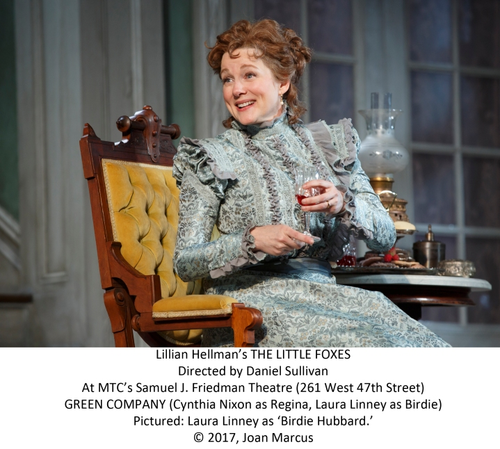 Manhattan Theatre Club LILLIAN HELLMAN'S THE LITTLE FOXES Directed by Daniel Sullivan With Laura Linney, Cynthia Nixon Darren Goldstein, Michael McKean, Richard Thomas David Alford, Michael Benz, Francesca Carpanini, Caroline Stefanie Clay, Charles Turner