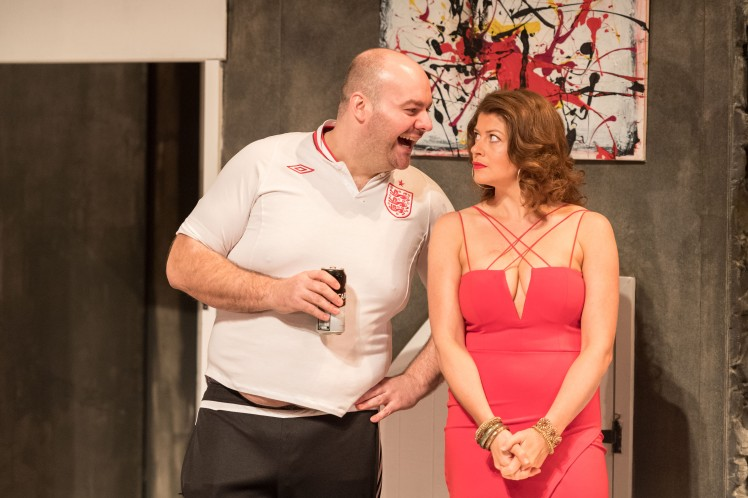 Graeme Brookes as Alan and Elizabeth Boag as Dawn in INVINCIBLE