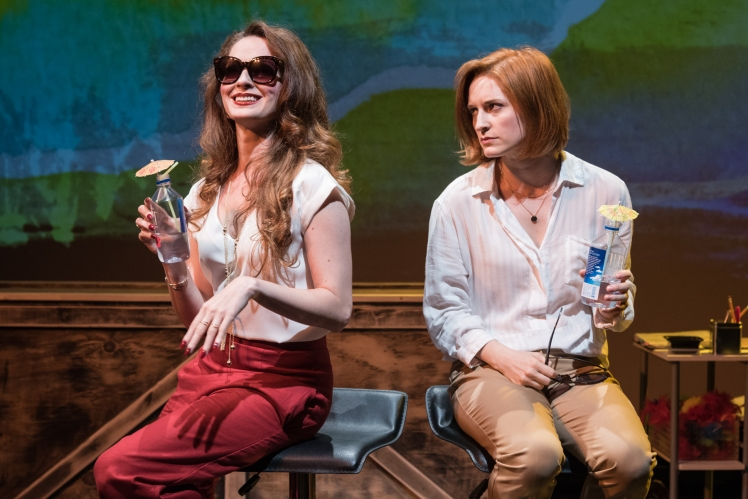 Amanda Rose as Jane and Jenny Peirsol as Julie sipping cocktails. Photo by J