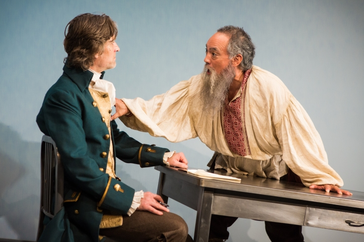 Michael Laurence and Thom Sesma in the Primary Stages production of DISCORD - photo by Jeremy Daniel