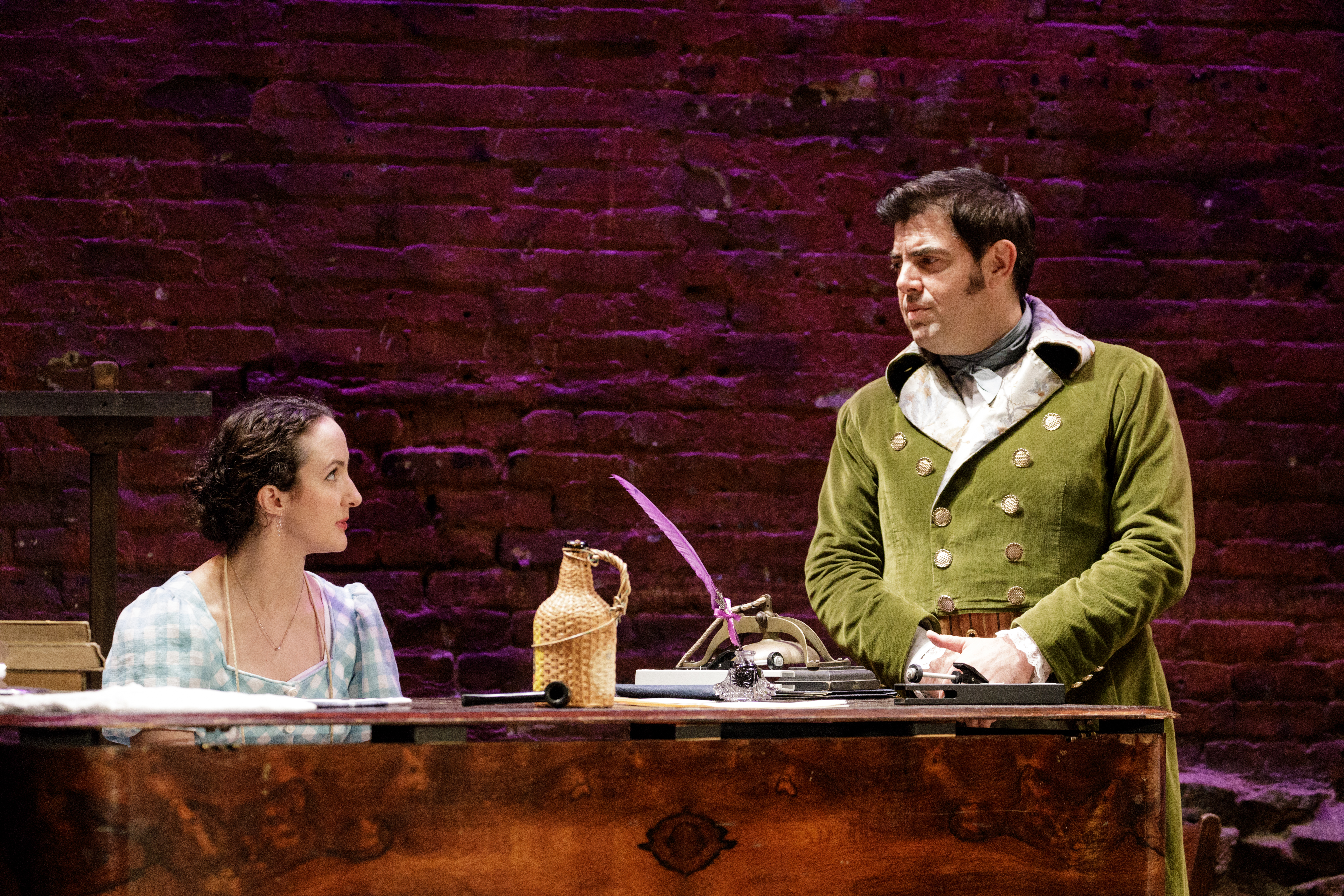 pnpKate Hamill and Jason O'Connell in Primary Stages' 2017 Production of PRIDE AND PREJUDICE - photo by James Leynse