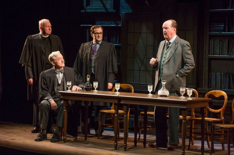 SLDan Kremer, Sean Gormley, Daryll Heysham, and John C. Vennema in Fellowship for Performing Arts' SHADOWLANDS at the Acorn Theatre at Theatre Row. - photo by Jeremy Daniel,_preview