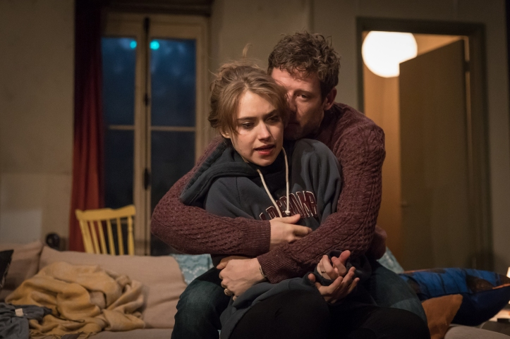 Imogen Poots (Abby) & James Norton (Zack) in Belleville at the Donmar Warehouse, director Michael Longhurst, designer Tom Scutt. Photo by Marc Brenner (3)
