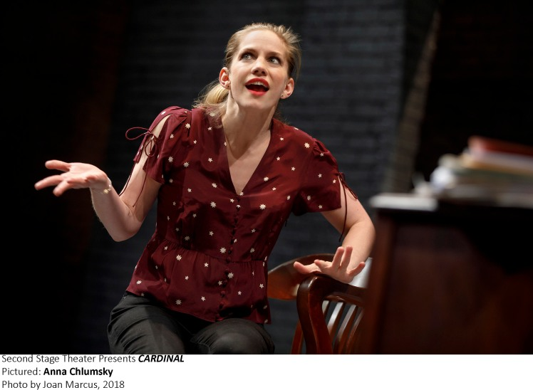 Second Stage Theater Cardinal By  Greg Pierce Directed By Whorlsky Cast Beck Ann Baker Anna Chlumsky Alex Hurt Adam Pally Stephen Park Eugene Young