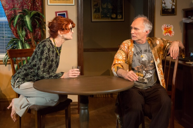 L-R: Candy Buckley and Jeff Hayenga in Max Baker's HAL & BEE at 59E59 Theaters. Photo by Hunter Canning.