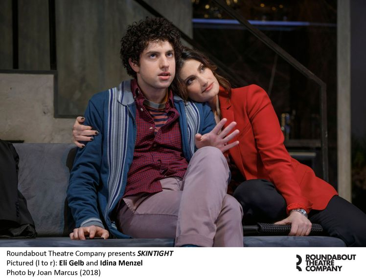 0327r2_Eli Gelb and Idina Menzel in SKINTIGHT, photo by Joan Marcus 2018_preview
