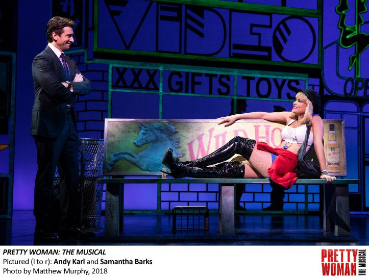 Andy Karl and Samantha Barks in PRETTY WOMAN THE MUSICAL, Photo by Matthew Murphy, 2018