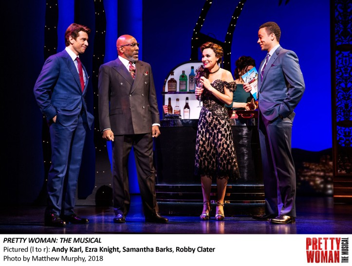 Andy Karl, Ezra Knight, Samantha Barks and Robby Clater in PRETTY WOMAN THE MUSICAL, Photo by Matthew Murphy, 2018