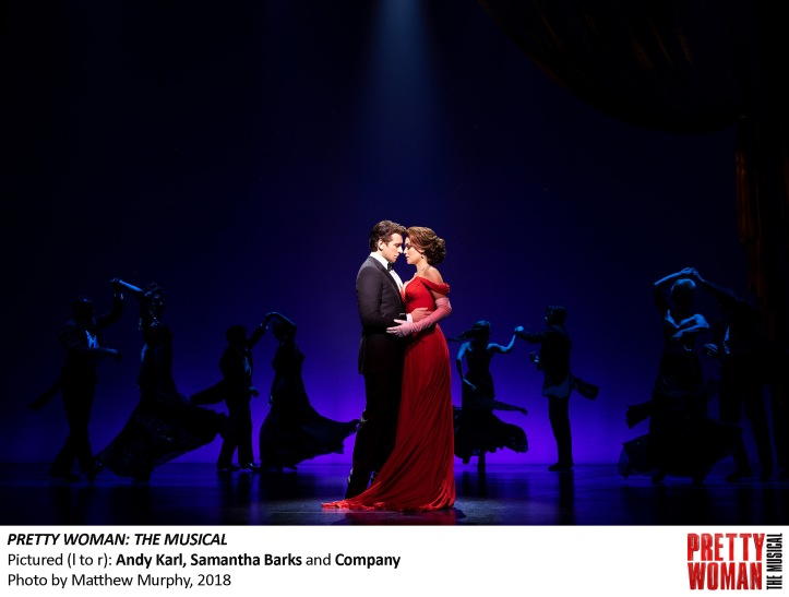 Andy Karl, Samantha Barks and Company in PRETTY WOMAN THE MUSICAL, Photo by Matthew Murphy, 2018