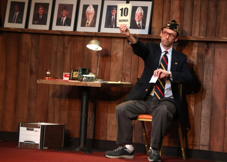 Mike Iveson in WHAT THE CONSTITUTION MEANS TO ME at New York Theatre Workshop, Photo by Joan Marcus