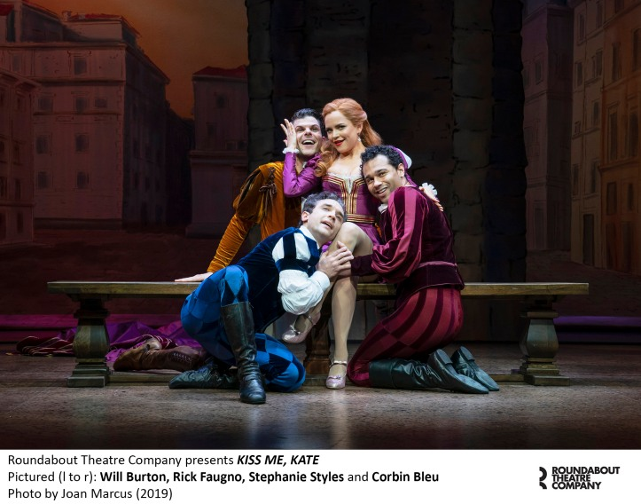 0236r_Will Burton, Rick Faugno, Stephanie Styles and Corbin Bleu in KISS ME, KATE, Photo by Joan Marcus 2019