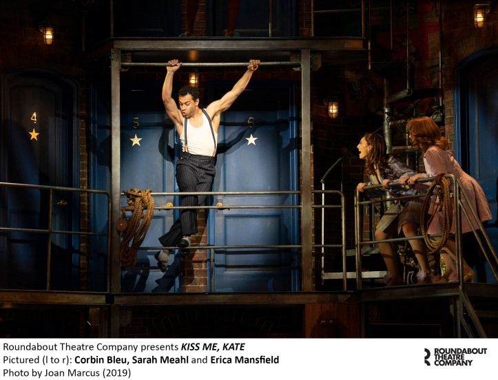 1494r_Corbin Bleu, Sarah Meahl and Erica Mansfield in KISS ME, KATE, Photo by Joan Marcus 2019