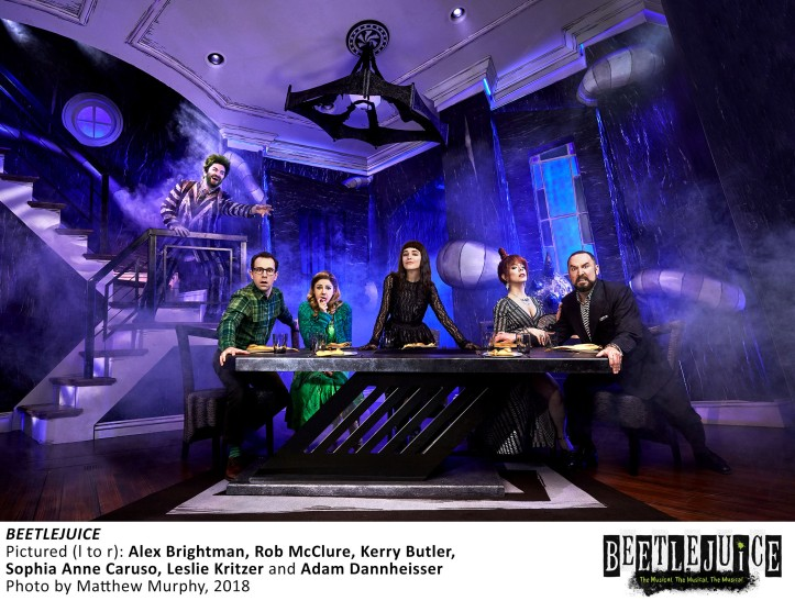 [0637]_BRIGHTMAN, MCCLURE, BUTLER, CARUSO, KRITZER, DANNHEISSER in BEETLEJUICE, Photo by Matthew Murphy, 2018