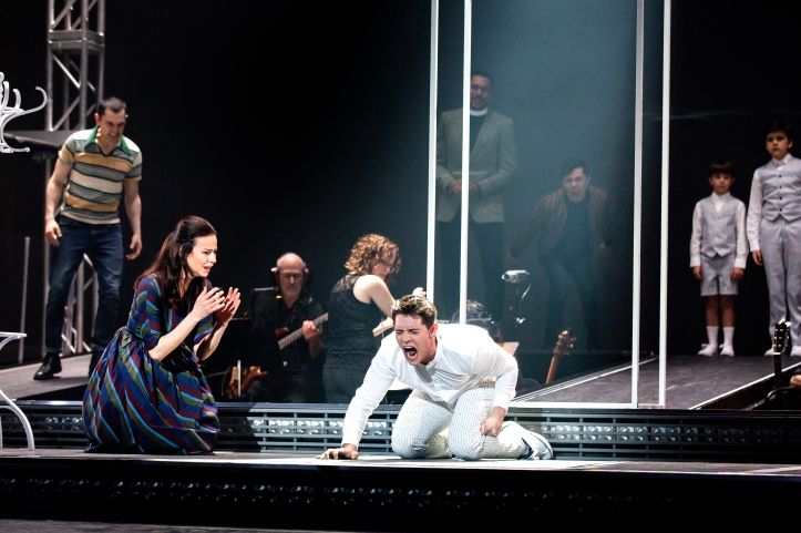 12_Wesley Taylor, Mandy Gonzalez, Casey Cott, Declan Fennell, and Hudson Loverro_Photo by Jeremy Daniel