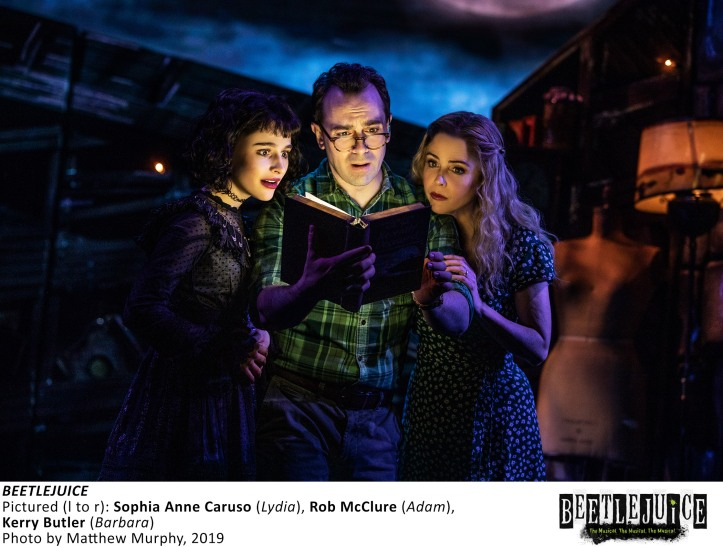 [2467]_SOPHIA ANNE CARUSO, ROB McCLURE, KERRY BUTLER in BEETLEJUICE, Photo by Matthew Murphy, 2019