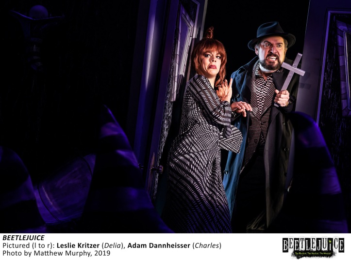 [2531]_LESLIE KRITZER, ADAM DANNHEISSER in BEETLEJUICE, Photo by Matthew Murphy, 2019