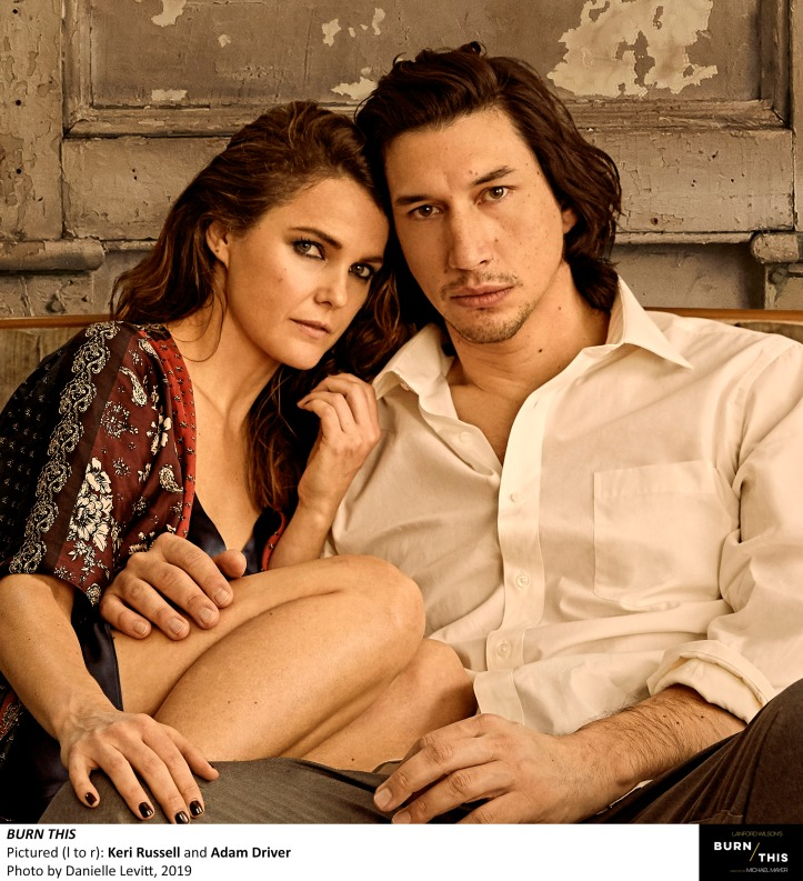 KERI RUSSELL and ADAM DRIVER, Photo by Danielle Levitt, 2019 (1)