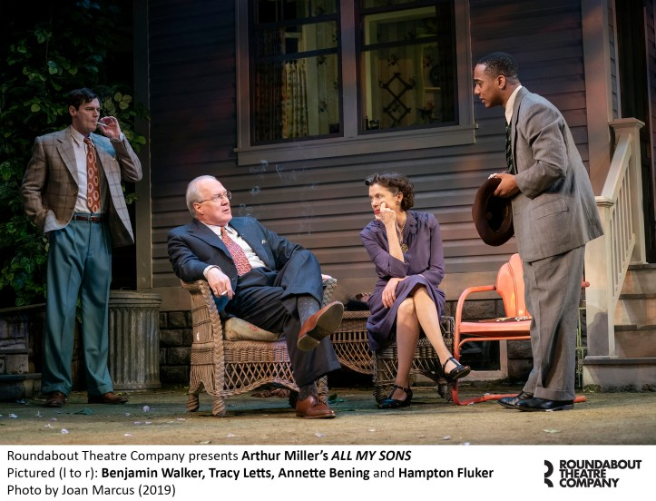 0054r_Benjamin Walker, Tracy Letts, Annette Bening and Hampton Fluker in Arthur Miller's ALL MY SONS, Photo by Joan Marcus 2019