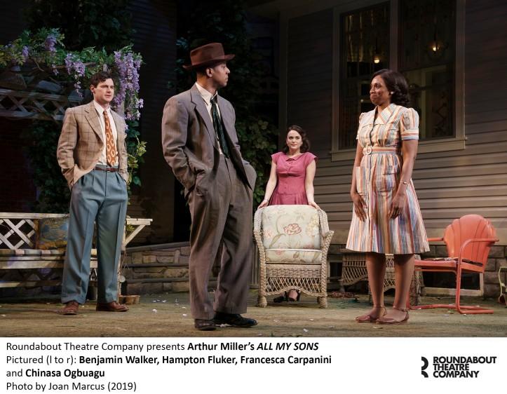 0282r_Benjamin Walker, Hampton Fluker, Francesca Carpanini and Chinasa Ogbuagu in Arthur Miller's ALL MY SONS, Photo by Joan Marcus 2019