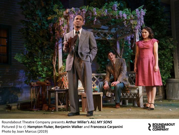 0284r_Hampton Fluker, Benjamin Walker and Francesca Carpanini in Arthur Miller's ALL MY SONS, Photo by Joan Marcus 2019