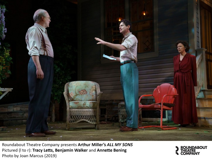 0367r_Tracy Letts, Benjamin Walker and Annette Bening in Arthur Miller's ALL MY SONS, Photo by Joan Marcus 2019