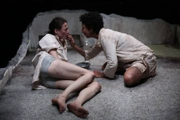 Renata Friedman and Sarah Nina Hayon in the World Premiere production of NO ONE IS FORGOTTEN - Photo by Paula Court (1)