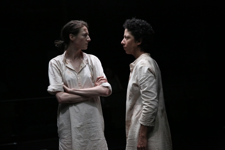 Renata Friedman and Sarah Nina Hayon in the World Premiere production of NO ONE IS FORGOTTEN - Photo by Paula Court (2)