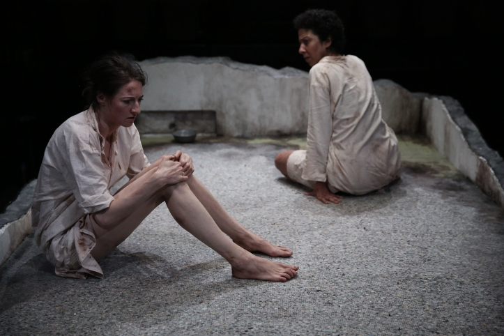 Renata Friedman and Sarah Nina Hayon in the World Premiere production of NO ONE IS FORGOTTEN - Photo by Paula Court (3)