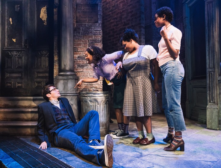 0038 - Jonathan Groff and the Urchins in Little Shop of Horrors (c) Emilio Madrid-Kuser