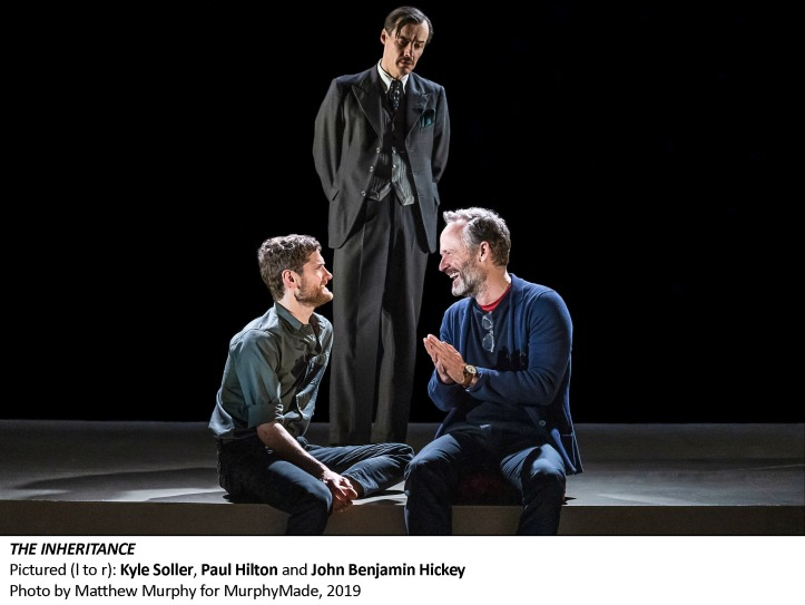 [2579_v005] Kyle Soller, Paul Hilton, and John Benjamin Hickey in THE INHERITANCE, Photo by Matthew Murphy for MurphyMade, 2019