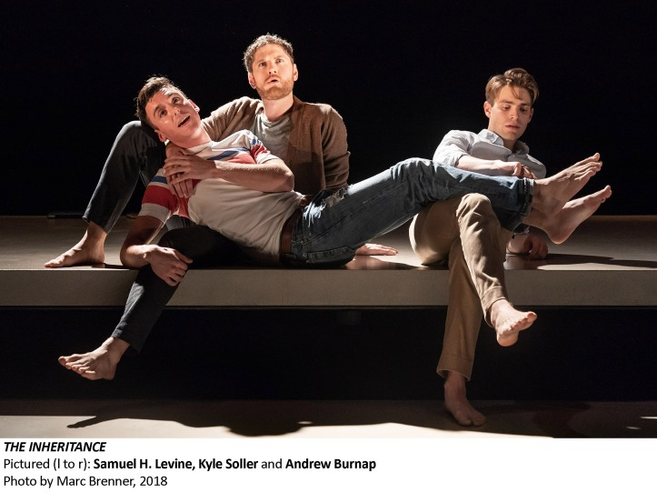 [356] Samuel H. Levine, Kyle Soller and Andrew Burnap in THE INHERITANCE, Photo by Marc Brenner 2018