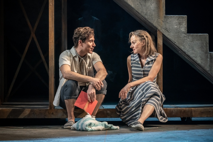 Ben Turner, Niamh Cusack in My Brilliant Friend Part 1. Image by Marc Brenner