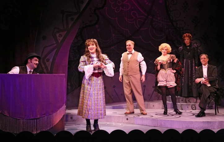 Kendal Sparks, Charles Busch, Christopher Borg, Nancy Anderson, Jennifer Van Dyck and Howard McGillin in THE CONFESSION OF LILY DARE at Primary Stages, Photo by Carol Rosegg