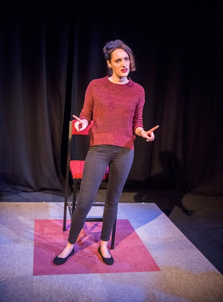 Phoebe Waller-Bridge in Fleabag by Phoebe Waller-Bridge @ Soho Theatre. Directed by Vicky Jones.(Opening 7-12-16) ©Tristram Kenton 12/16 (3 Raveley Street, LONDON NW5 2HX TEL 0207 267 5550 Mob 07973 617 355)email: tristram@tristramkenton.com